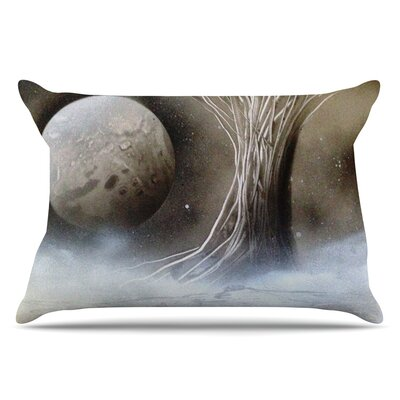 White Tree by Infinite Spray Art Pillow Sham Size: King