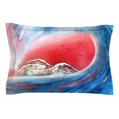 Tubular by Infinite Spray Art Pillow Sham Size: Queen