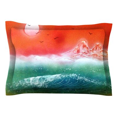 Dream Seascape by Infinite Spray Art Pillow Sham Size: Queen