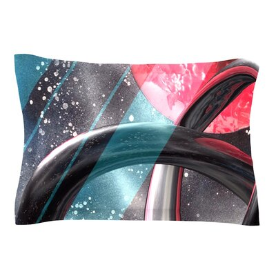 Geometric Mars by Infinite Spray Art Pillow Sham Size: Queen