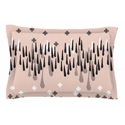 A Drop of Memphis by Zara Martina Mansen Pillow Sham Size: King, Color: Pastel/Black
