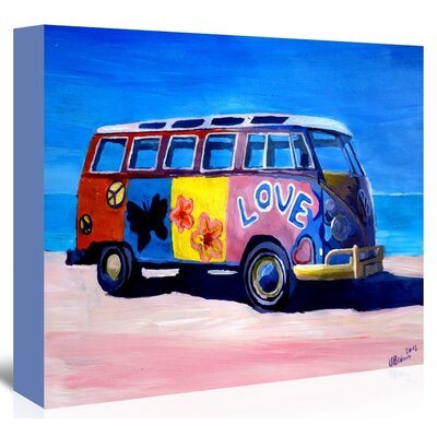 The Love Surf Bus Painting on Wrapped Canvas USSC1062 33543412