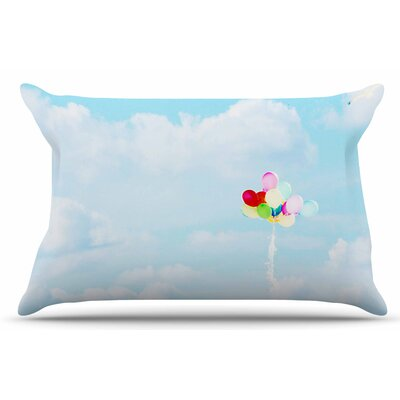 Balloons in the Sky by Sylvia Coomes Pillow Sham Size: King