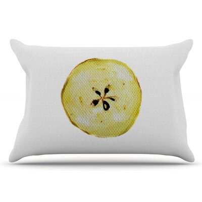 Apples by Theresa Giolzetti Pillow Sham Size: King