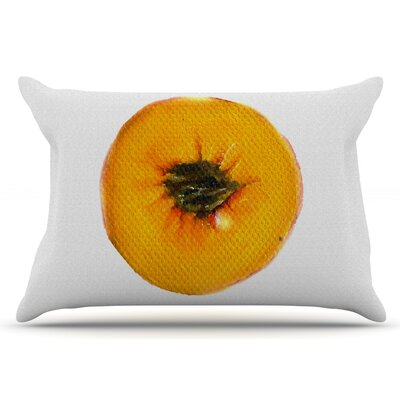 Peach by Theresa Giolzetti Pillow Sham Size: King