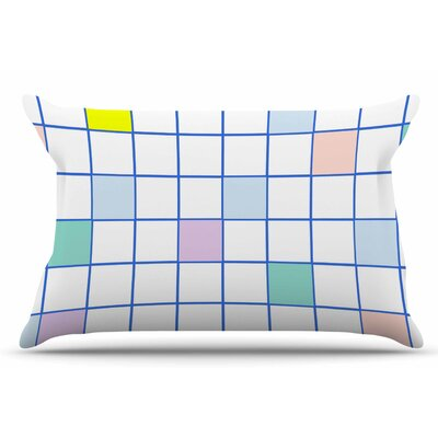 Pastel Windowpane Grid by Vasare Nar Pillow Sham Size: King