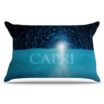 The Grotto of Capri by Theresa Giolzetti Pillow Sham Size: King