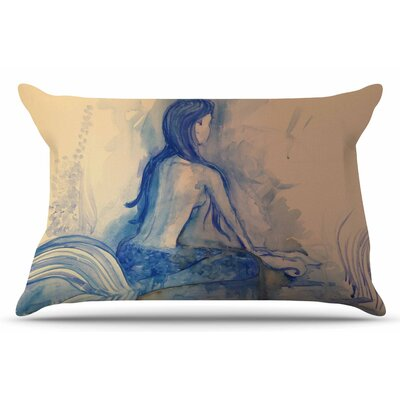 Mer-Maid? Huh... by Theresa Giolzetti Pillow Sham Size: King