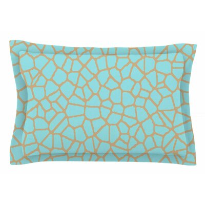 Staklo by Trebam Pillow Sham Color: Aqua/Coffee