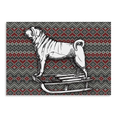 """Dog on Sled Graphic Art Size: 12"""" H x 16"""" W USSC3583 33555183"""