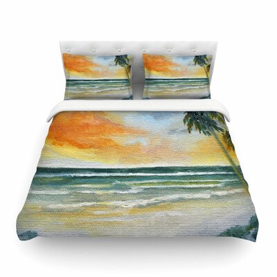 End of Day by Rosie Brown Beach Featherweight Duvet Cover Size: Twin