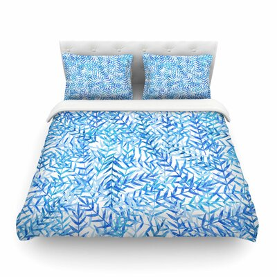 Leaves by Strawberringo Featherweight Duvet Cover Size: King