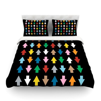 Arrows Up and Down by Project M Featherweight Duvet Cover Size: King, Color: Black/Multi