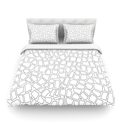 British Mosaic by Project M Featherweight Duvet Cover Size: Twin, Color: White