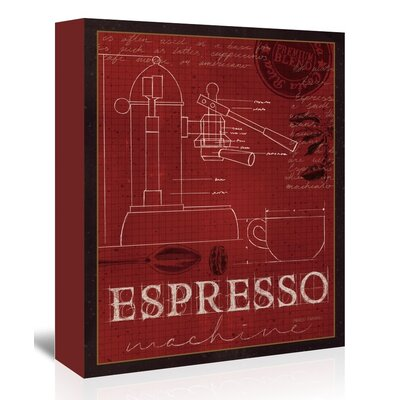 Espresso Machine Vintage Advertisement on Wrapped Canvas USSC4450 33567849