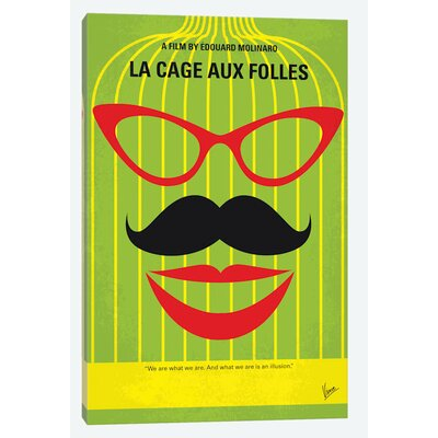 'La Cage Aux Folles Minimal Movie Poster' by Chungkong Vintage Advertisement on Wrapped Canvas USSC6851 33585703
