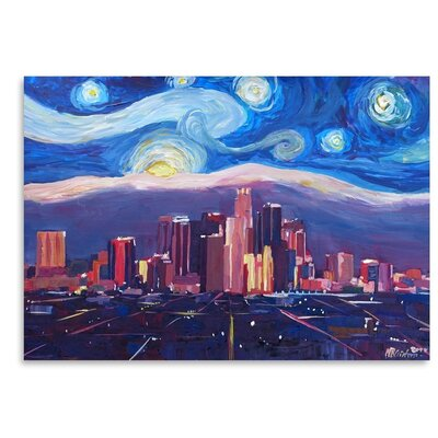 Starry Night in Los Angeles Painting USSC7461 33589394