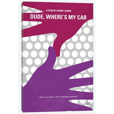 'Dude, Where's My Car? Minimal Movie Poster' Vintage Advertisement on Wrapped Canvas USSC7777 33591163