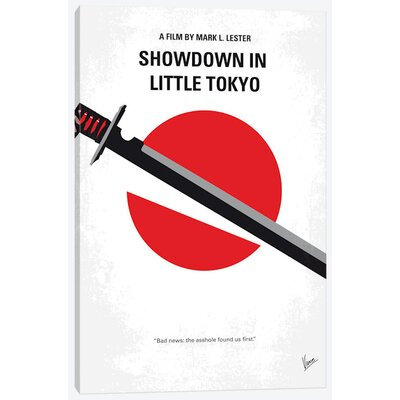 "'Showdown in Little Tokyo Minimal Movie Poster' Vintage Advertisement on Wrapped Canvas Size: 12"" H x 8"" W x 0.75"" D USSC7852 33591740"