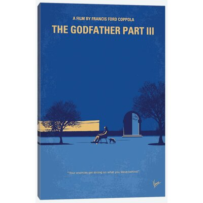 'The Godfather: Part III Minimal Movie Poster' Vintage Advertisement on Wrapped Canvas USSC8102 33594236