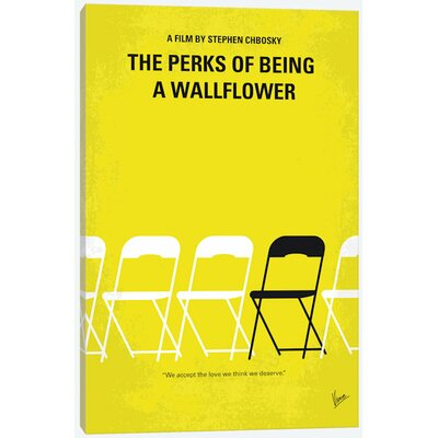 """'The Perks of Being a Wallflower Minimal Movie Poster' Vintage Advertisement on Wrapped Canvas Size: 12"""" H x 8"""" W x 0.75"""" D USSC8111 33594308"""