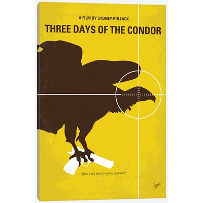 'Three Days of the Condor Minimal Movie Poster' Vintage Advertisement on Wrapped Canvas USSC8125 33594420