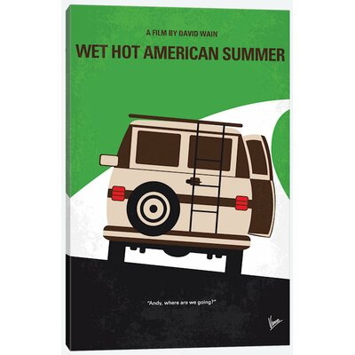 "Wet Hot American Summer Minimal Movie Poster Vintage Advertisement on Wrapped Canvas Size: 12"" H x 8"" W x 0.75"" D USSC8137 33594516"