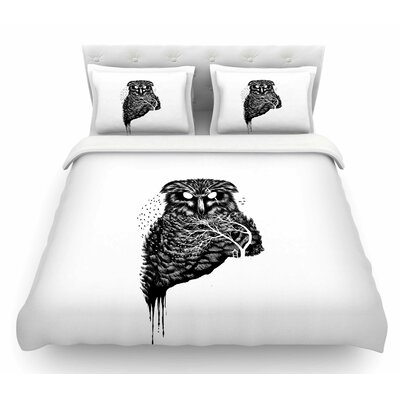 Autumn Owl by BarmalisiRTB Featherweight Duvet Cover Size: King