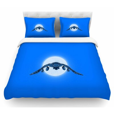 Battle Owl by BarmalisiRTB Featherweight Duvet Cover Size: Twin