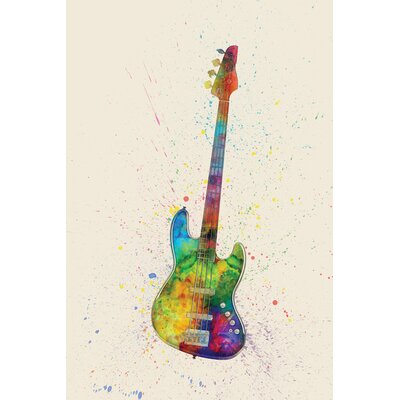 Musical Instrument Series: Electric Bass Guitar Graphic Art on Wrapped Canvas USSC8360 33595828