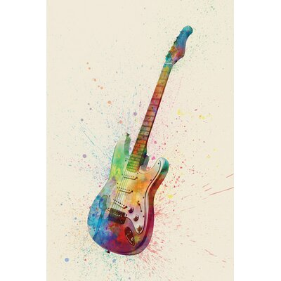 Musical Instrument Series: Electric Guitar I Graphic Art on Wrapped Canvas USSC8361 33595836