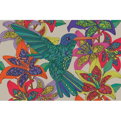 """Hummingbird Puzzle III Graphic Art on Wrapped Canvas Size: 26"""" H x 40"""" W x 1.5"""" D USSC8914 33600081"""