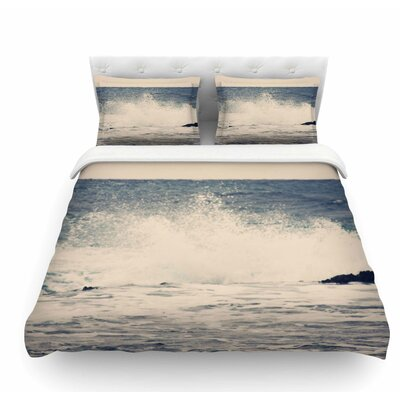Crashing Waves 2 by Sylvia Coomes Costal Featherweight Duvet Cover Size: Twin