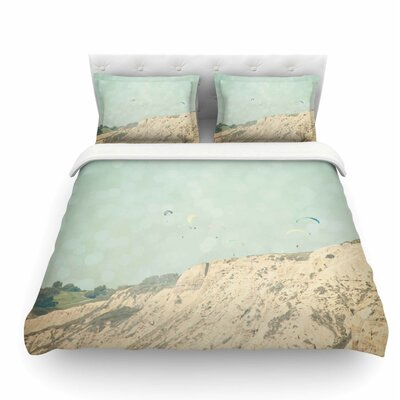 West Coast 2 by Sylvia Coomes Pastel Coastal Featherweight Duvet Cover Size: King