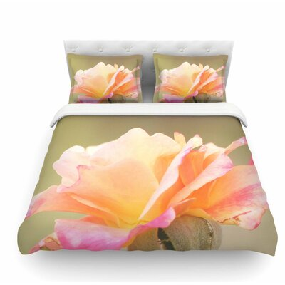Rose in Full Bloom by Sylvia Coomes Floral Featherweight Duvet Cover Size: Queen