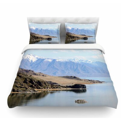 Mountain Reflection by Sylvia Coomes Nature Featherweight Duvet Cover Size: Twin