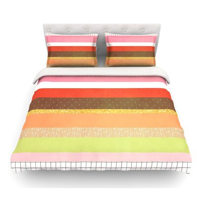 Mix by Strawberringo Hodge Podge Featherweight Duvet Cover Size: Twin