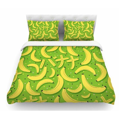 Banana Pattern by Strawberringo Abstract Food Featherweight Duvet Cover Size: King