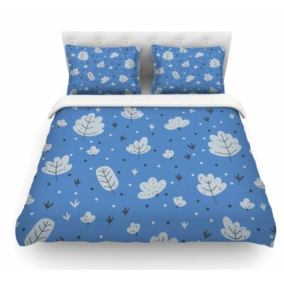 Autumn Leaves by Strawberringo Nature Featherweight Duvet Cover Size: Queen