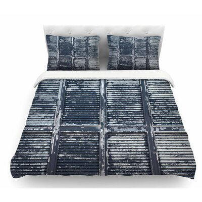 Rustic Shutters by Susan Sanders Nautical Featherweight Duvet Cover Size: Twin
