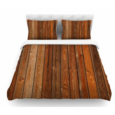 Rustic Wood Wall by Susan Sanders Nature Featherweight Duvet Cover Size: Queen