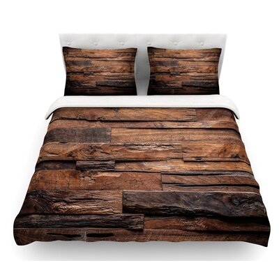 Espresso Dreams by Susan Sanders Rustic Wood Featherweight Duvet Cover Size: Queen