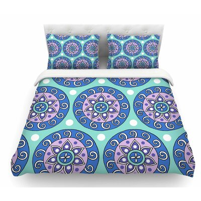 Mandala Dot by Sarah Oelerich Featherweight Duvet Cover Size: King