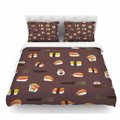 Sushi Pattern by Strawberringo Featherweight Duvet Cover Size: Twin