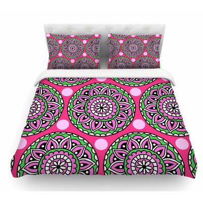Watermelon Mandala by Sarah Oelerich Featherweight Duvet Cover Size: King