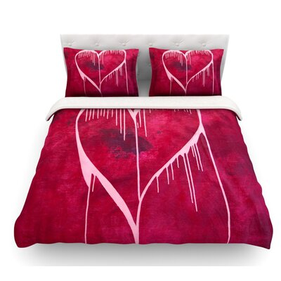 Miss You by Steve Dix Featherweight Duvet Cover Size: Queen