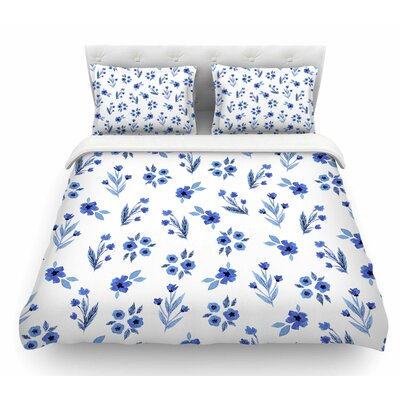 Floral by Starwberringo Featherweight Duvet Cover Size: Queen