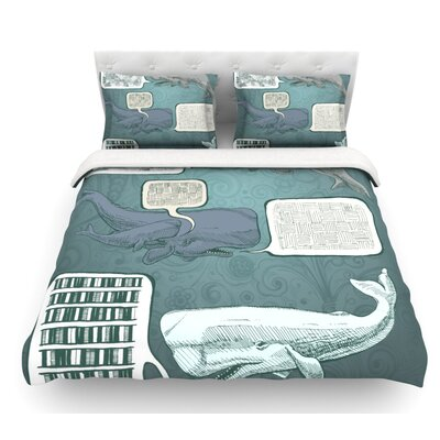 Whale Talk by Sophy Tuttle Featherweight Duvet Cover Size: Twin