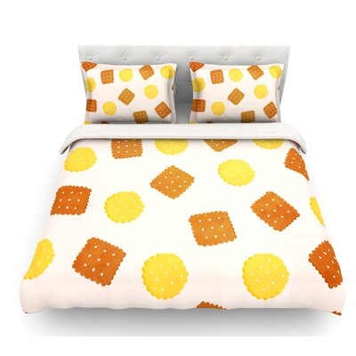 Do You Love Biscuits? by Strawberringo Featherweight Duvet Cover Size: Twin