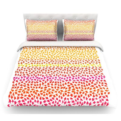 Sunset Arrows by Sreetama Ray Abstract Featherweight Duvet Cover Size: King